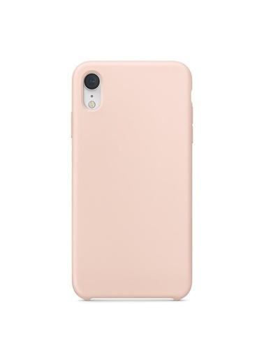 Bludfire Apple iPhone XR Kılıf Liquid Lansman Silikon Kum Pembesi Pudra
